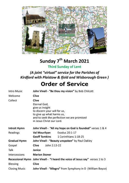 Order of Service 07.03.21