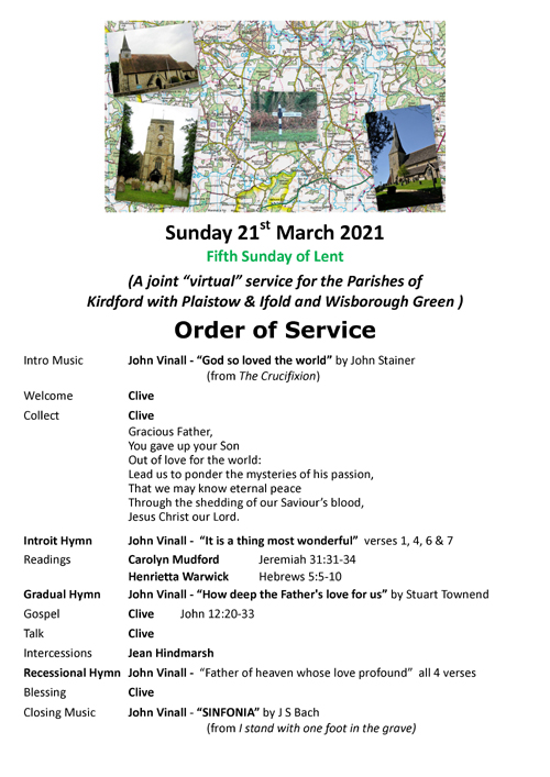 Order of Service 21.03.21