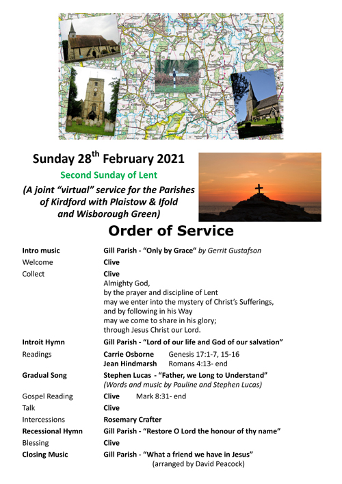 Order of Service 28th February 2021